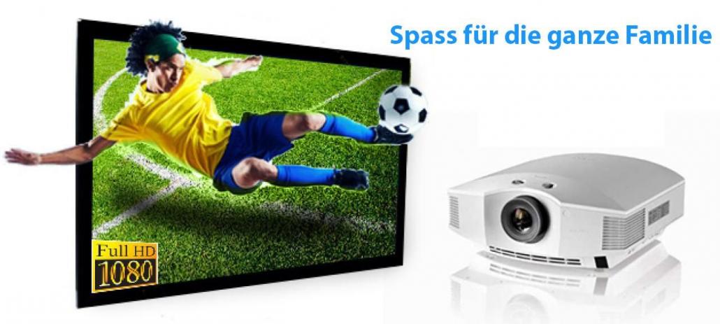 Sony-HW45ES-Beamer-Leinwand